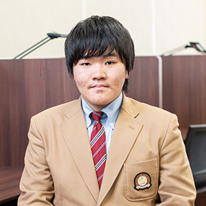 高校2年生(下関市立長成中学校出身)波田 賢門さん